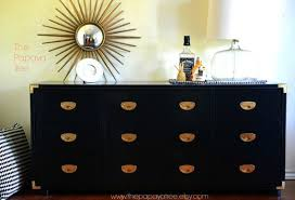 Brass Bedroom Furniture by Made To Order Campaign Military Brass Dresser Black Lacquered