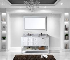 60 Bathroom Vanity Double Sink White by Virtu Usa Winterfell 60 Double Bathroom Vanity Set In White