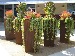 Corten Steel Planter by Now That Is A Succulent Statement Succulents Including Trailing