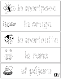 spanish for kids woksheets