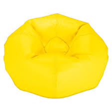 simple yellow bean bag chair on small home remodel ideas with