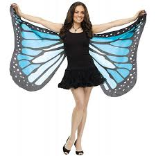 how to make wings for halloween amazon com soft butterfly wings costume accessory blue
