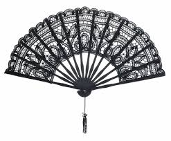 folding fans bulk 11 black folding lace fan for weddings on sale now