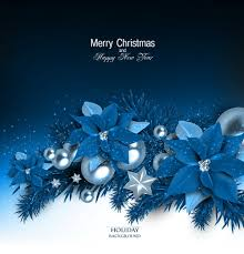 blue christmas blue christmas background with shiny jewelry vector 02 vector