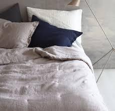 Linen Bed Linen Coverlet Luxury Natural Linen Bedcover Rough Linen