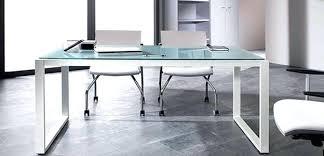 plateau de bureau en verre sérigraphié plateau bureau en verre bureau rectangulaire avec plateau verre