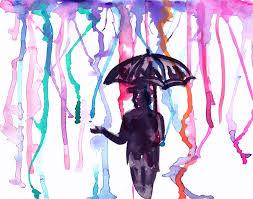 paint man watercolor man umbrella free photo on pixabay