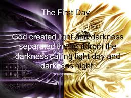 what day did god create light the seven days of creation ppt video online download