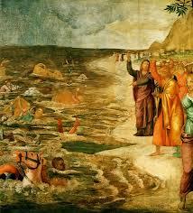 crossing of the red sea bernardino luini c 1515 moses cross