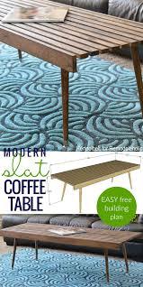 remodelaholic diy modern slat coffee table building plan