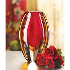 art vase modern artistic red glass vases decorative for tables ebay