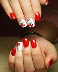67 best red nail art design ideas 29 red finger nail art designs