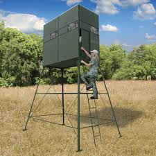 Deer Hunting Tower Blinds Deer Hunting Blind With 10 U0027 Stand Texas Hunter Products