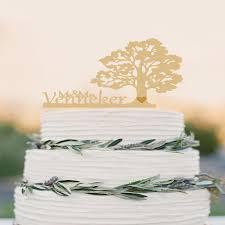 wedding cake name tree wedding cake topper personalized wood cake topper rustic cake