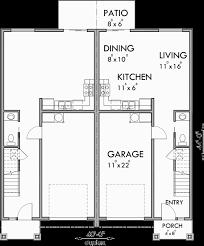 main floor plan for d 599 duplex house plans 2 story duplex plans