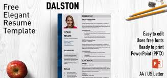 powerpoint resume template dalston powerpoint resume template