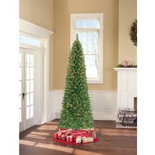 time pre lit 4 blue tinsel artificial tree