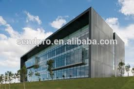 Curtain Vision Hidden Frame Curtain Wall One Way Vision Window Film For Glass
