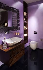 stylish purple apartment bathroom design ideas home n garden