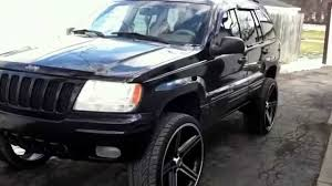 jeep cherokee black with black rims jeep on iroc rims youtube