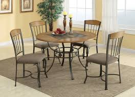 hilda brown metal and wood dining table set steal a sofa