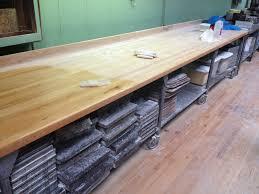 bakery maple butcher block tables w shelves on wheels sold bakery butcher table maple top table