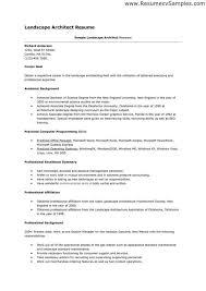Technical Architect Resume Landscape Worker Cover Letter