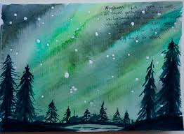 how to paint northern lights northern light watercolour techniques emily sun all things creative