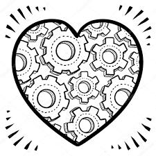 complex human heart sketch u2014 stock vector lhfgraphics 21156085