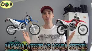 go the rat motocross gear wr250r vs crf250l comparison review youtube