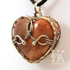 heart stone necklace pendants images Wire wrap heart stone google search wire wrap pinterest jpg