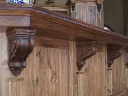 kitchen island brackets kitchen islands decoration beaded traditional brackets in hickory make the perfect kitchen how to install corbels and brackets