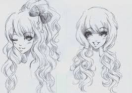 anime hairstyles tutorial drawn curl anime pencil and in color drawn curl anime