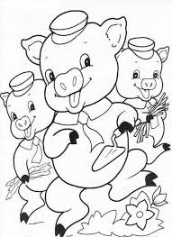 pigs printable kids coloring