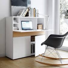 bureaux meubles et rangements bureau compact focus blanc de
