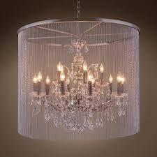 Iron Chandelier With Crystals Restoration Revolution Vaille Crystal 15 Light 36