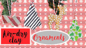 diy air dry clay ornaments easy diy christmas decor advent