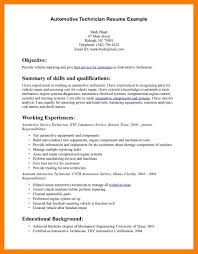 8 mechanic resume examples self introduce
