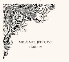 paisley designs buddhist hindu wedding place cards cards