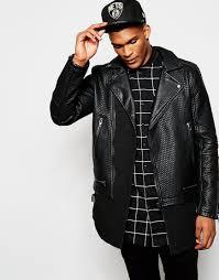 racing biker jacket black kaviar biker jacket in black for men lyst