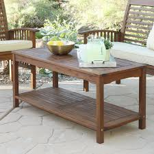 outdoor wood coffee table wood outdoor coffee tables patio tables the home depot