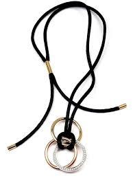 cord pendant necklace images Cartier trinity diamond medium silk cord multi color gold pendant jpg