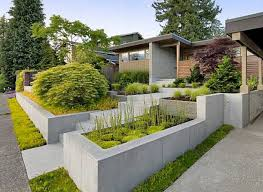 small nice modern front yard pictures that can be decor with white