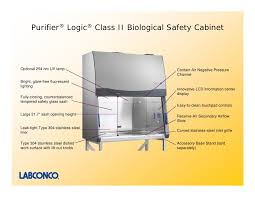labconco purifier class ii biosafety cabinet purifier logic class ii biological safety cabinets presentation