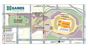 Map Guest X Games Minneapolis 2017 Guest Services Information