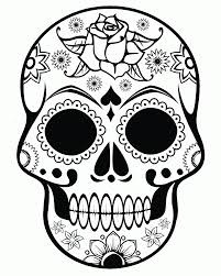 sugar skull roses coloring pages kids coloring
