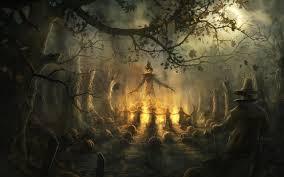 wallpaper halloween creepy full