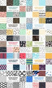 100 seamless hand drawn patterns for adobe illustrator and