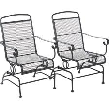 Outdoor Mesh Furniture by These Mosaic Steel Mesh Spring Rocker Set Are Built To Be Sturdy