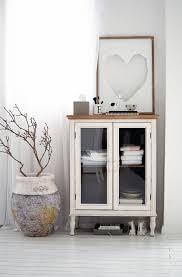 Wohnzimmer Deko Shabby Vitrinenschrank 2 Fächer Shabby Chic Schränke Möbel Living